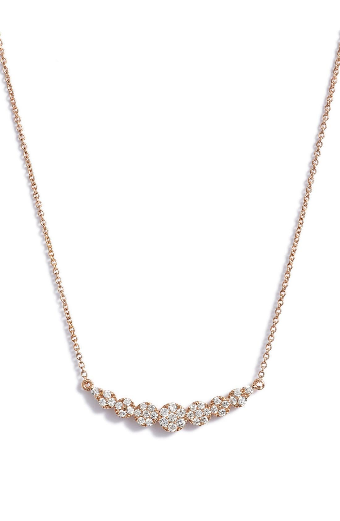 'Liora' Diamond Pendant Necklace,                             Main thumbnail 1, color,                             Rose Gold