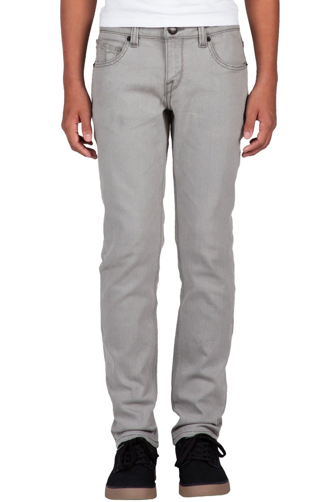 'Solver' Straight Leg Denim Jeans,                             Main thumbnail 1, color,                             Old Grey