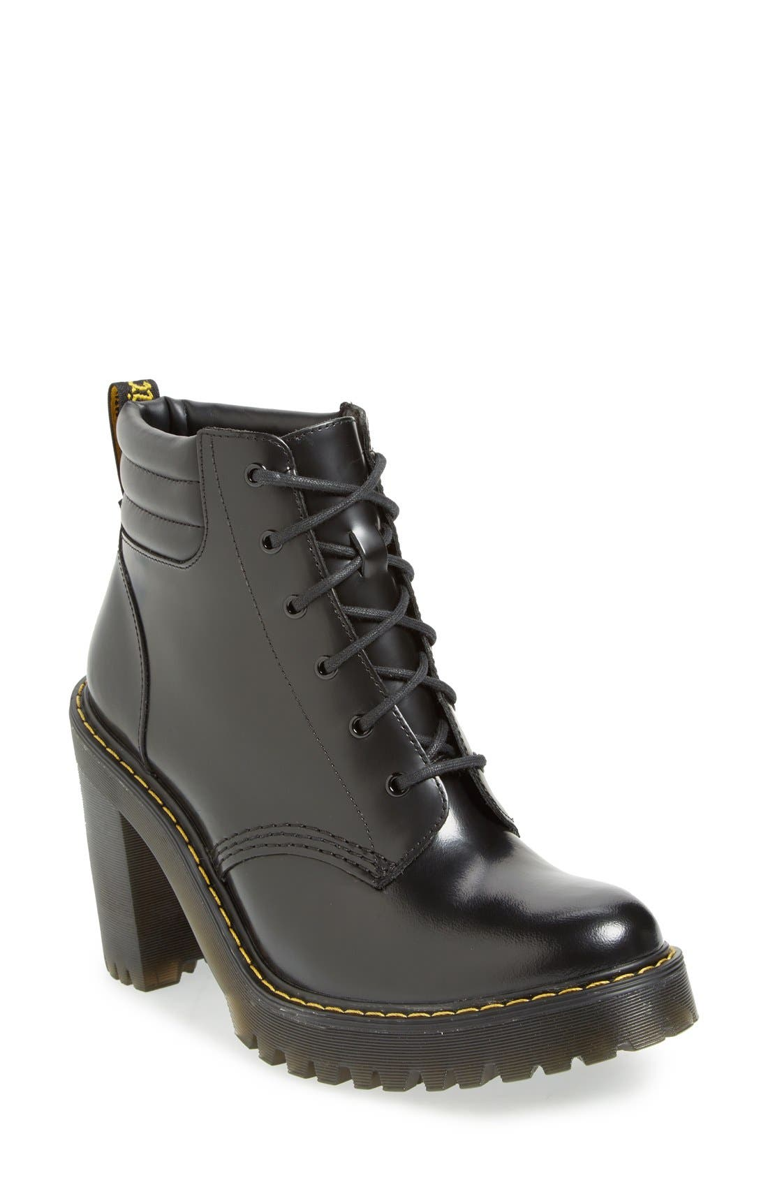 'Persephone' Platform Boot,                             Main thumbnail 1, color,                             Black