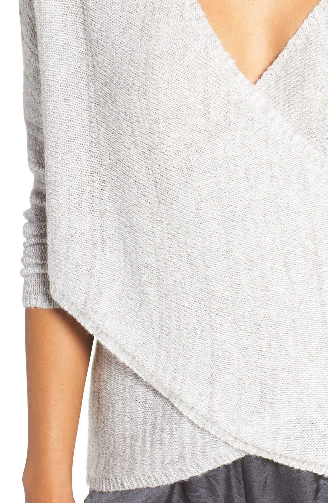 Alternate Image 4  - Chelsea28 Cross Front Sweater