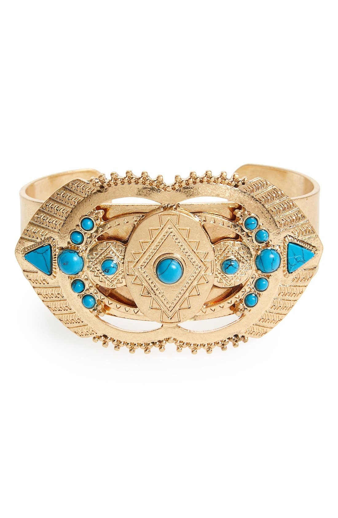 Alternate Image 1 Selected - Danielle Nicole 'Dream' Reconstituted Turquoise Cuff