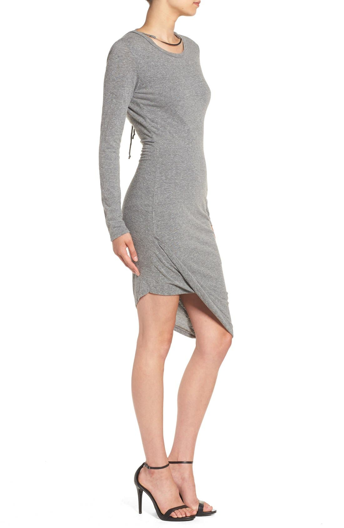 Alternate Image 3  - Pam & Gela Asymmetrical Hem T-Shirt Dress