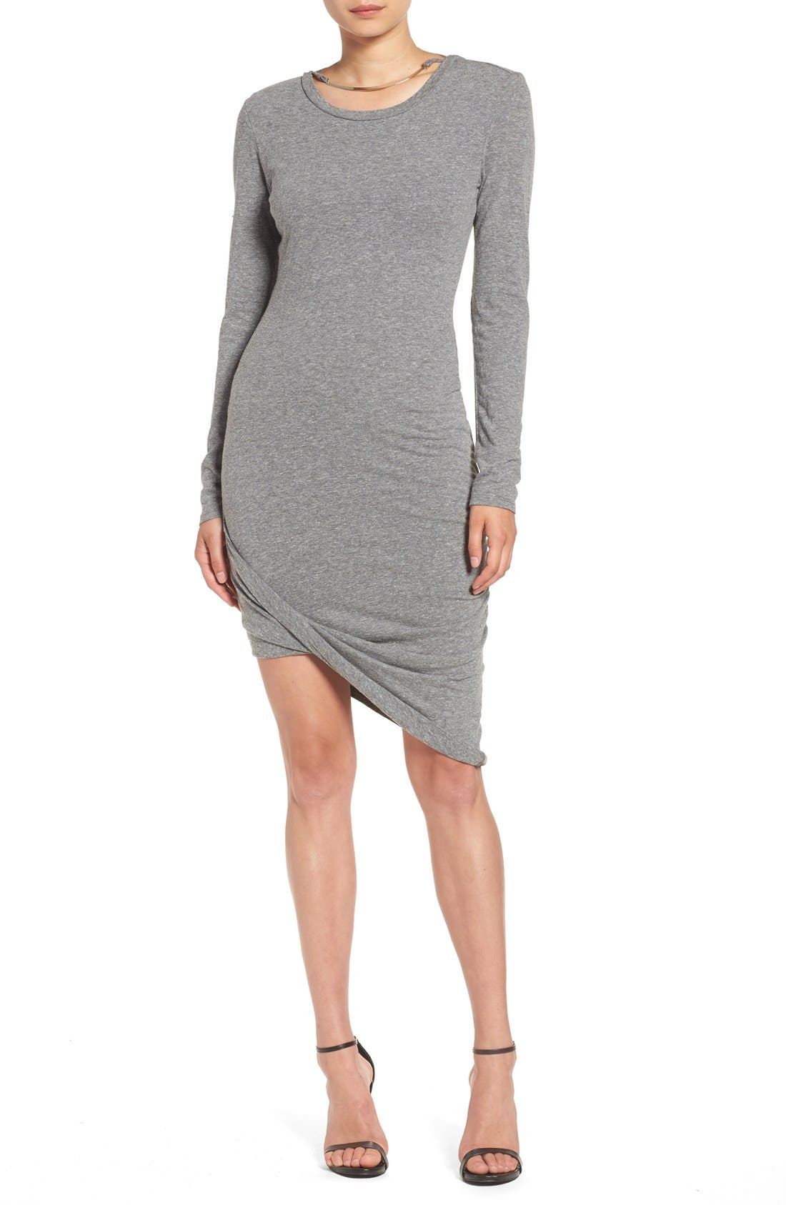 Alternate Image 1 Selected - Pam & Gela Asymmetrical Hem T-Shirt Dress