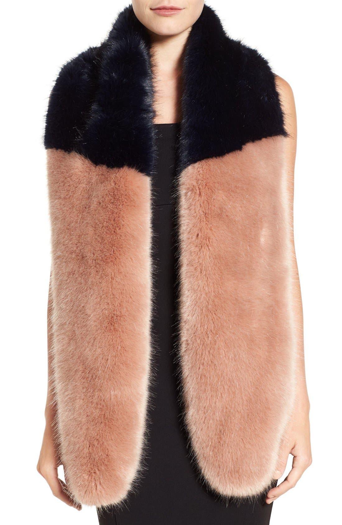 Alternate Image 2  - Halogen® Faux Fur Stole