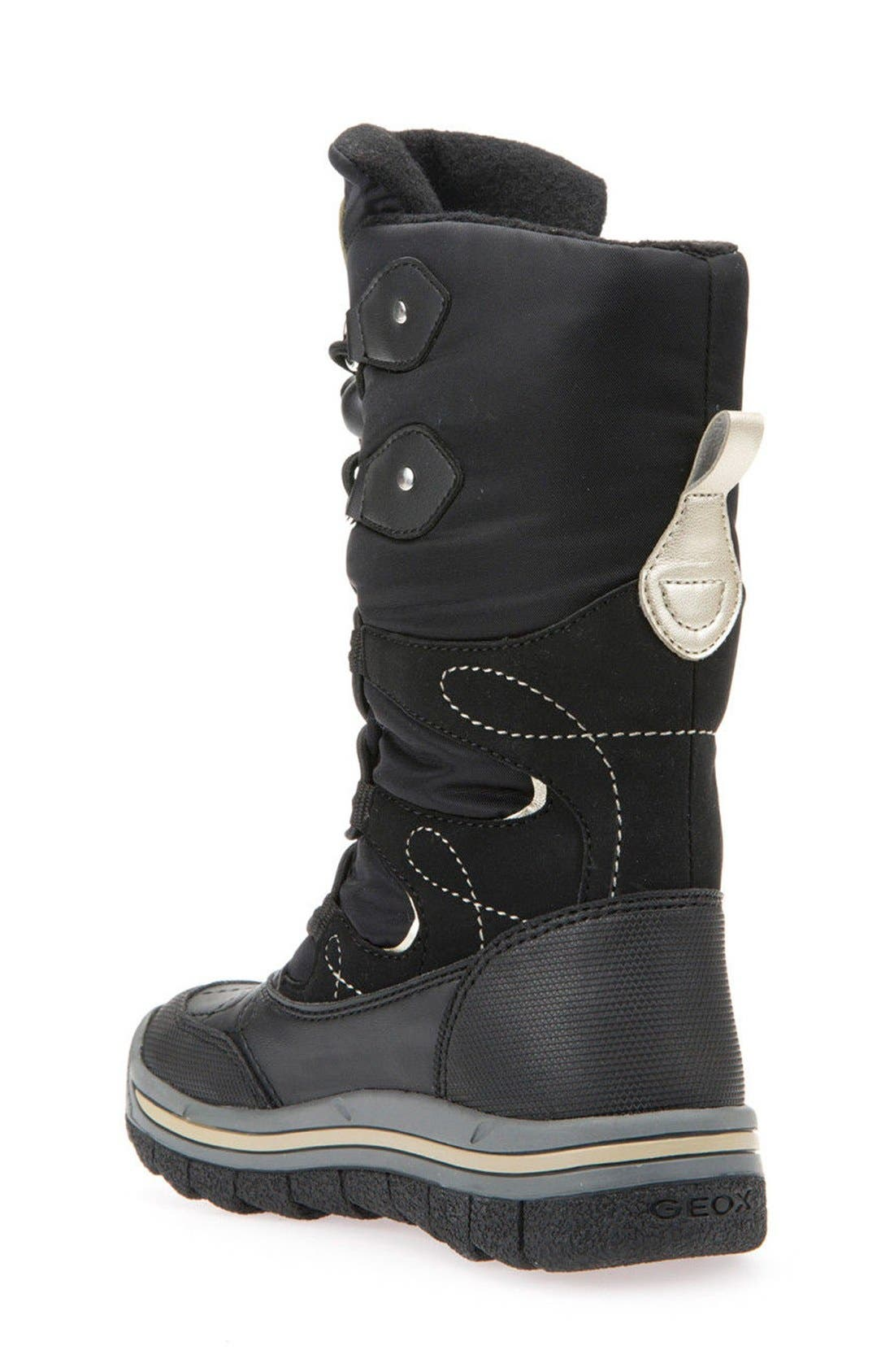 'Overland ABX' Waterproof Boot,                             Alternate thumbnail 2, color,                             Black/ Gold