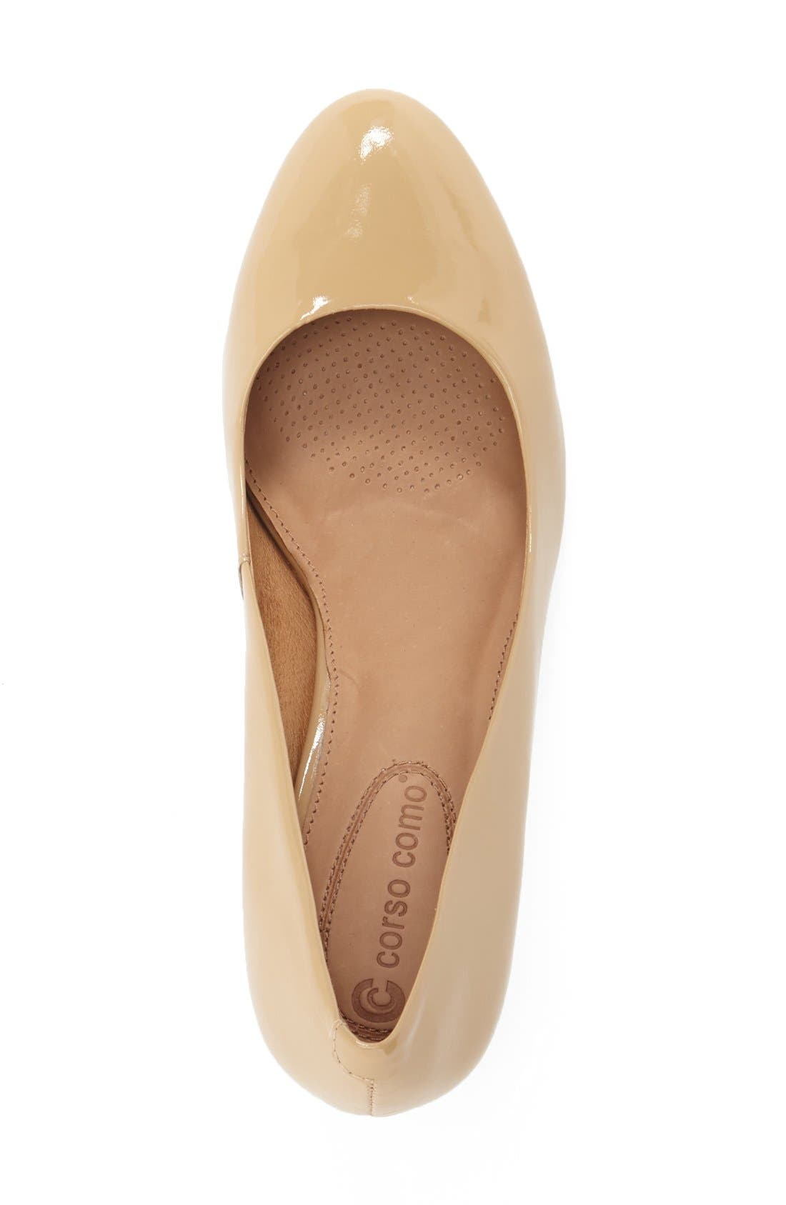 CC Corso Como 'Linden' Pump,                             Alternate thumbnail 3, color,                             Beige Patent