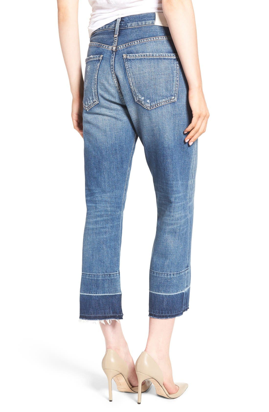 Alternate Image 2  - Citizens of Humanity Cora High Waist Released Hem Boyfriend Jeans (Fade Out)