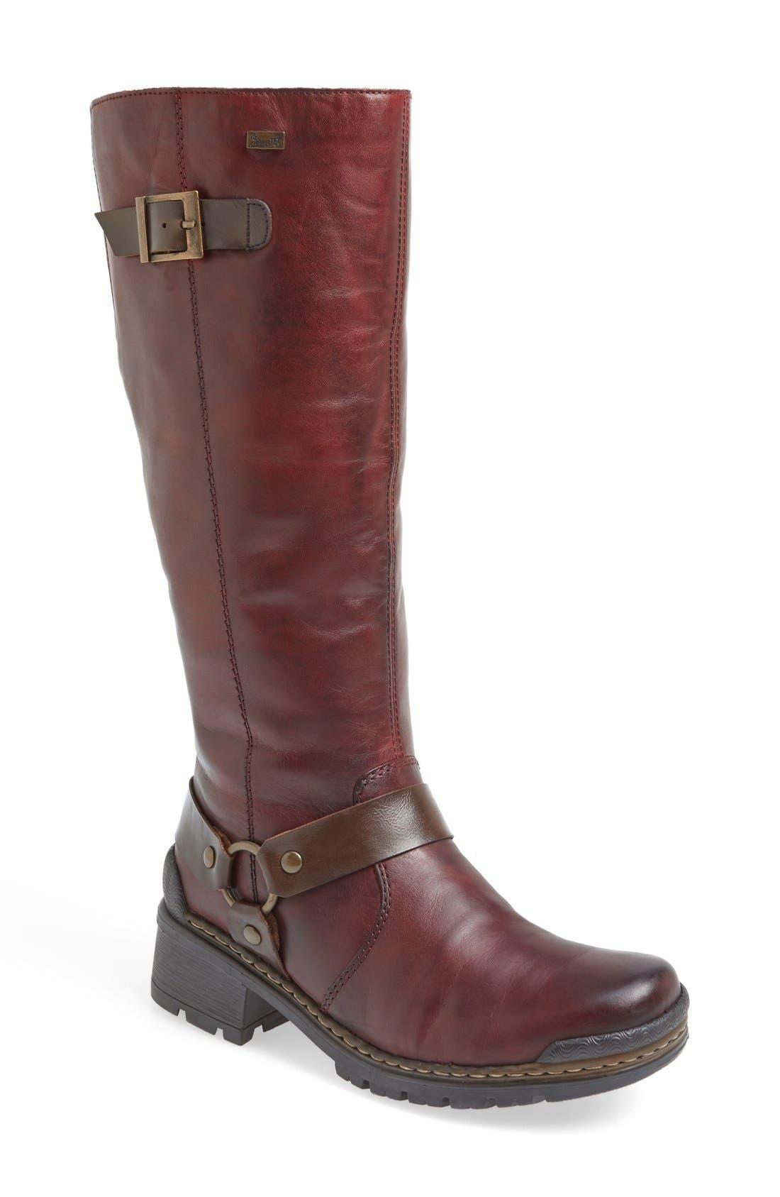 'Sybille 70' Riding Boot,                         Main,                         color, Bordeaux Leather