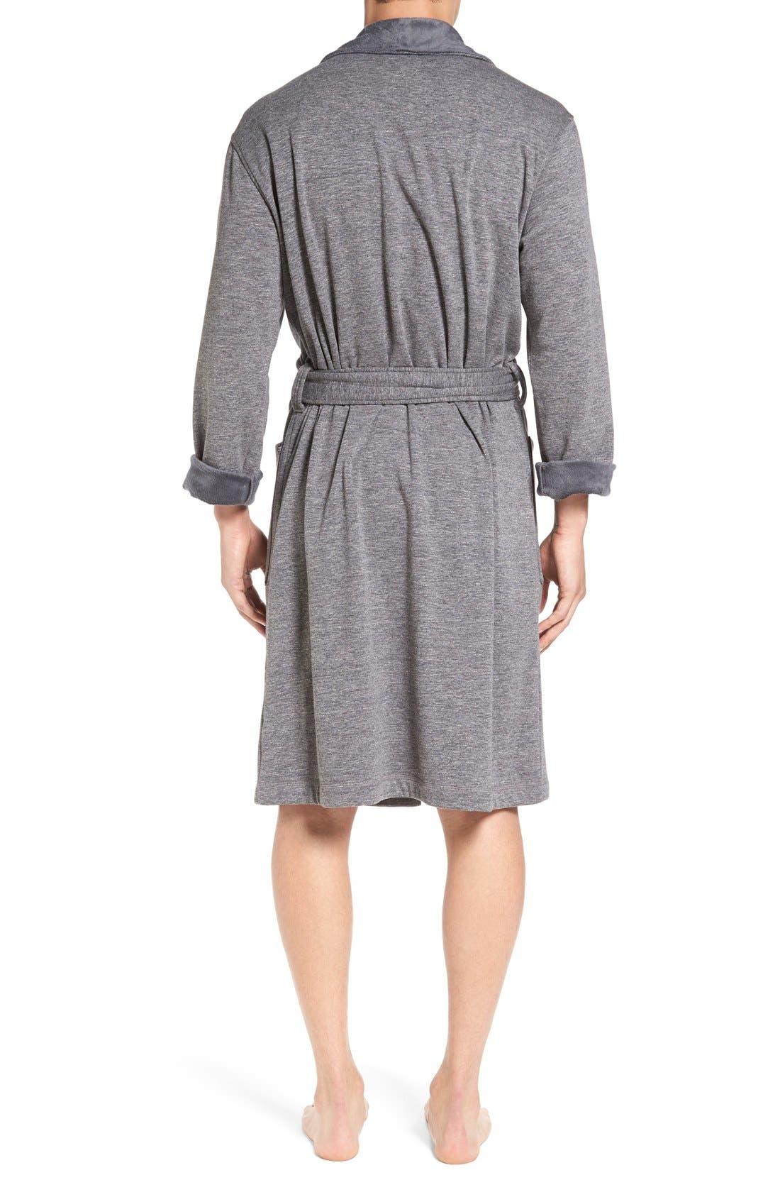Alternate Image 2  - UGG® 'Robinson' Stretch Cotton Robe