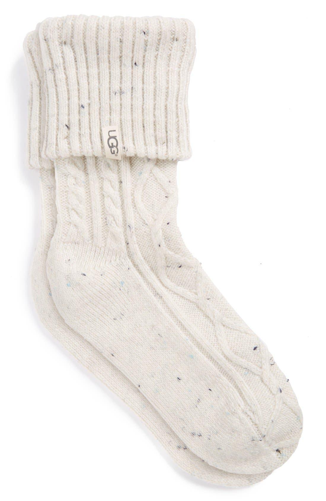 'Sienna' Short Boot Sock,                             Main thumbnail 1, color,                             Freshwater Pearl Fabric