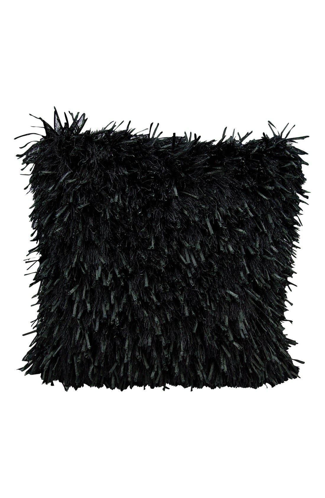 Shag Pillow,                         Main,                         color, Black