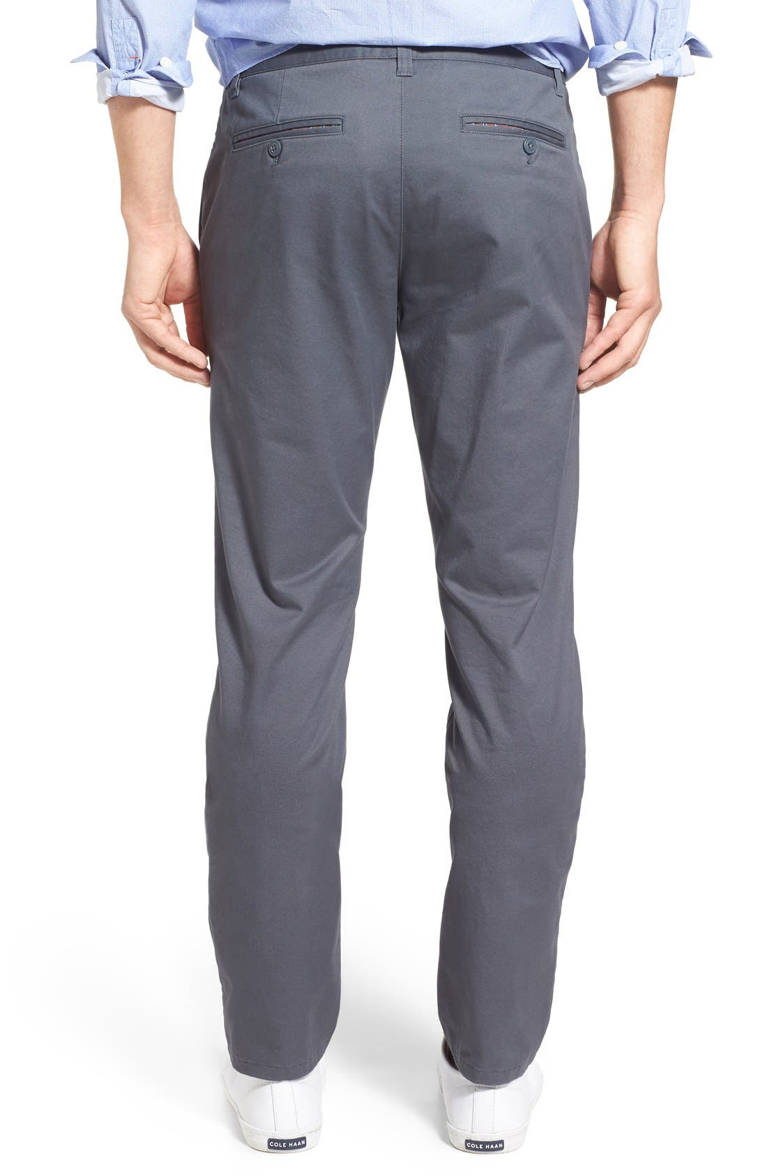 Slim Fit Stretch Washed Chinos,                             Alternate thumbnail 2, color,                             Slate