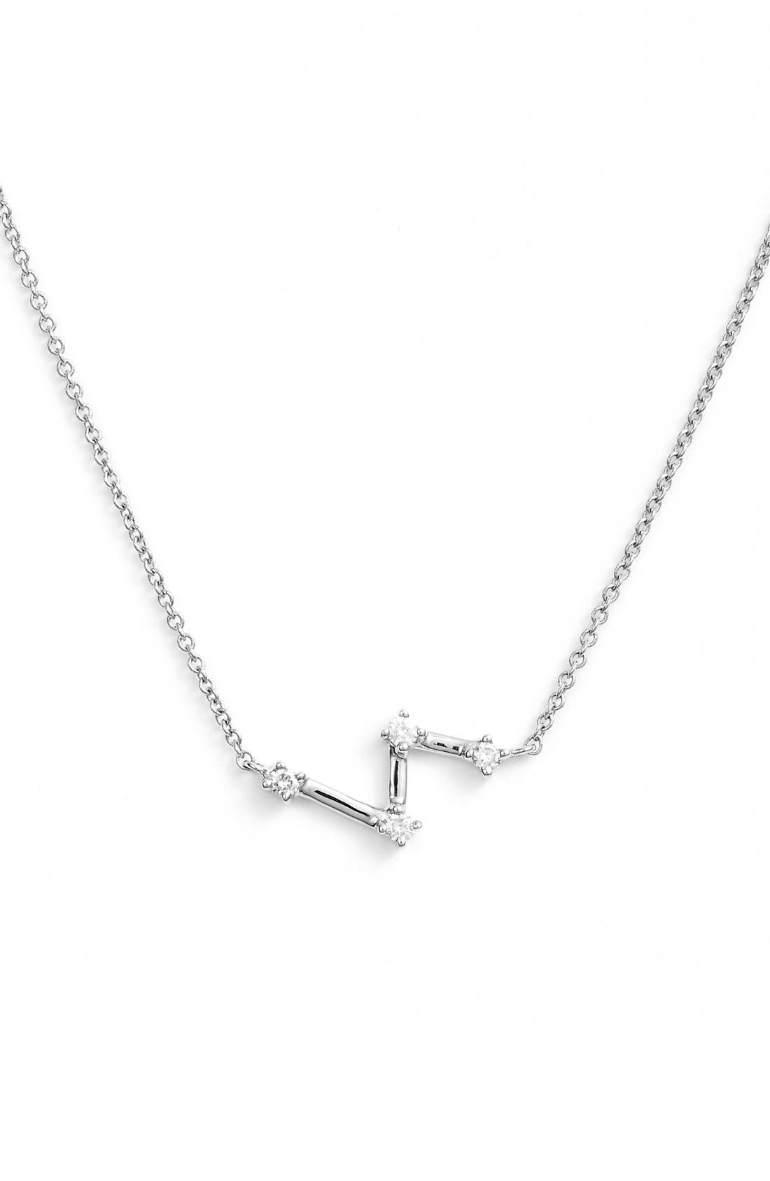 DANA REBECCA DESIGNS Jemma Morgan Zig Zag Diamond Pendant Necklace
