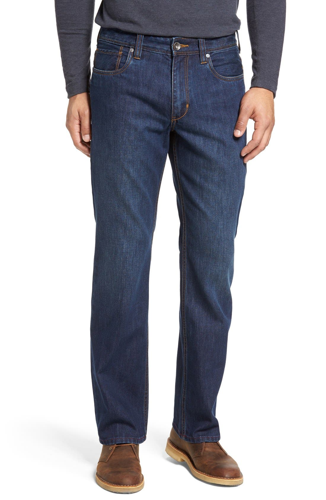'Santorini' Relaxed Fit Jeans,                             Main thumbnail 1, color,                             Dark Indigo Wash