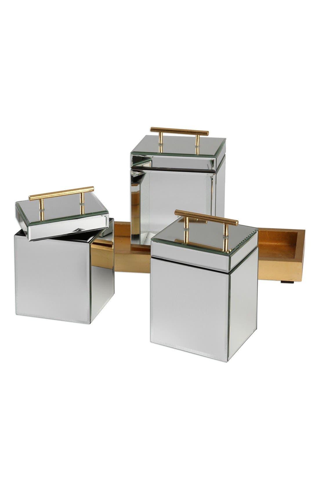 4-Piece Trinket Box & Tray Set,                             Alternate thumbnail 2, color,                             Metallic Gold