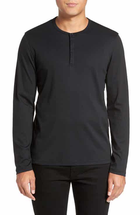 Men's Black Henley Long Sleeve & T-Shirts | Nordstrom