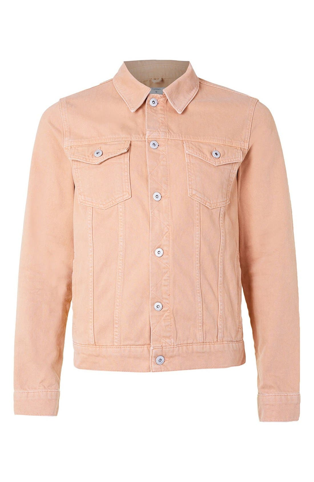 Alternate Image 5  - Topman Pink Denim Western Jacket