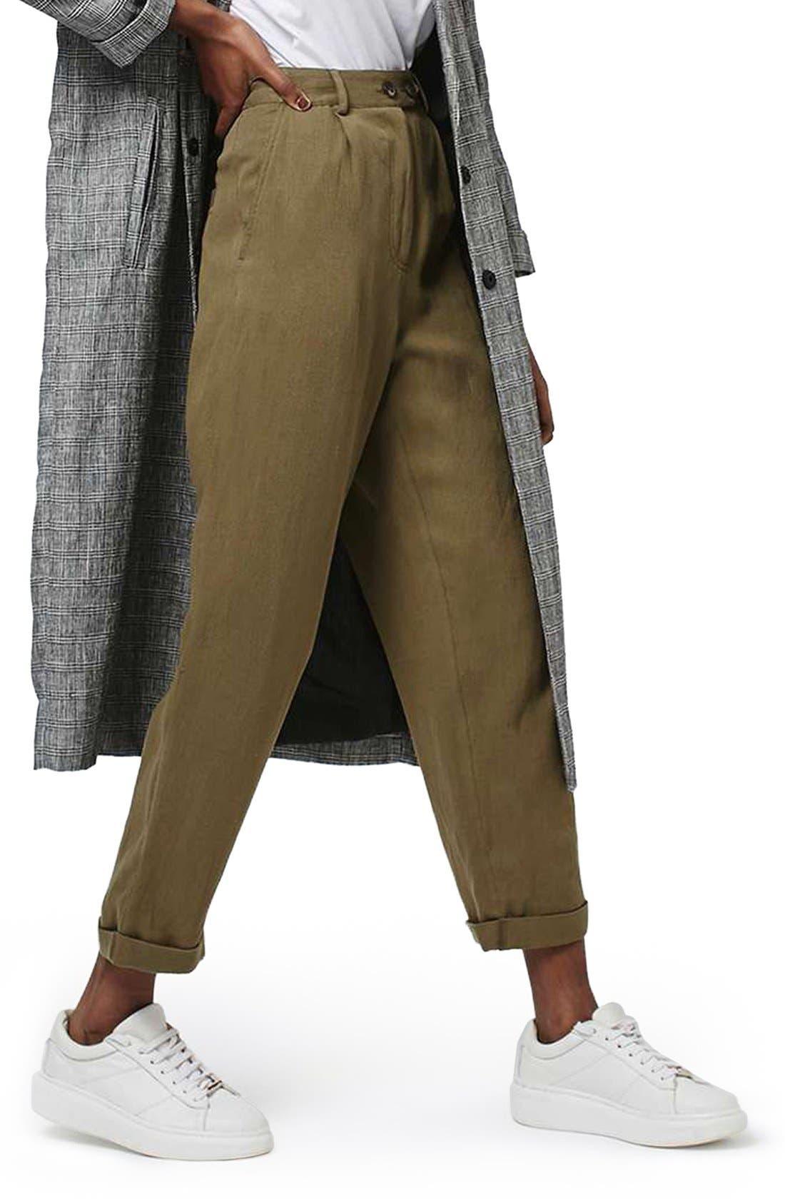 Alternate Image 1 Selected - Topshop 'Mensy' Corduroy Peg Trousers