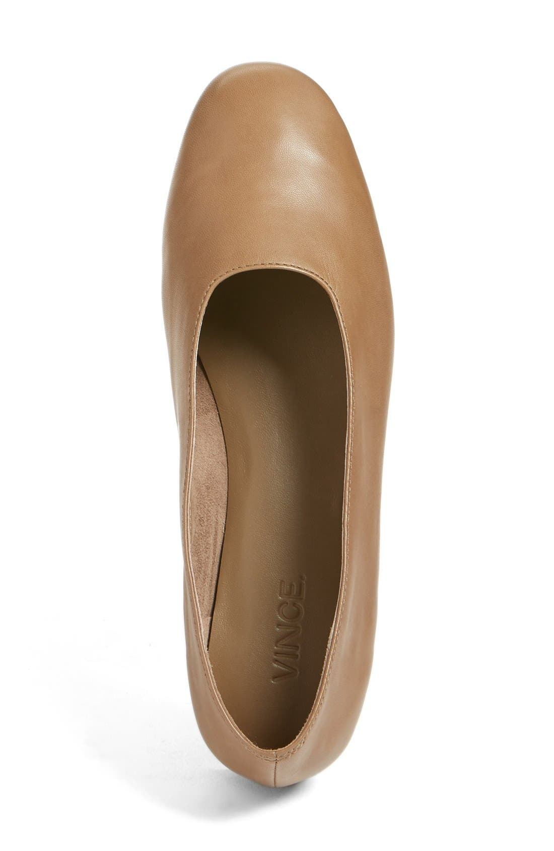 'Maxwell' Flat,                             Alternate thumbnail 3, color,                             Dark Taupe Leather