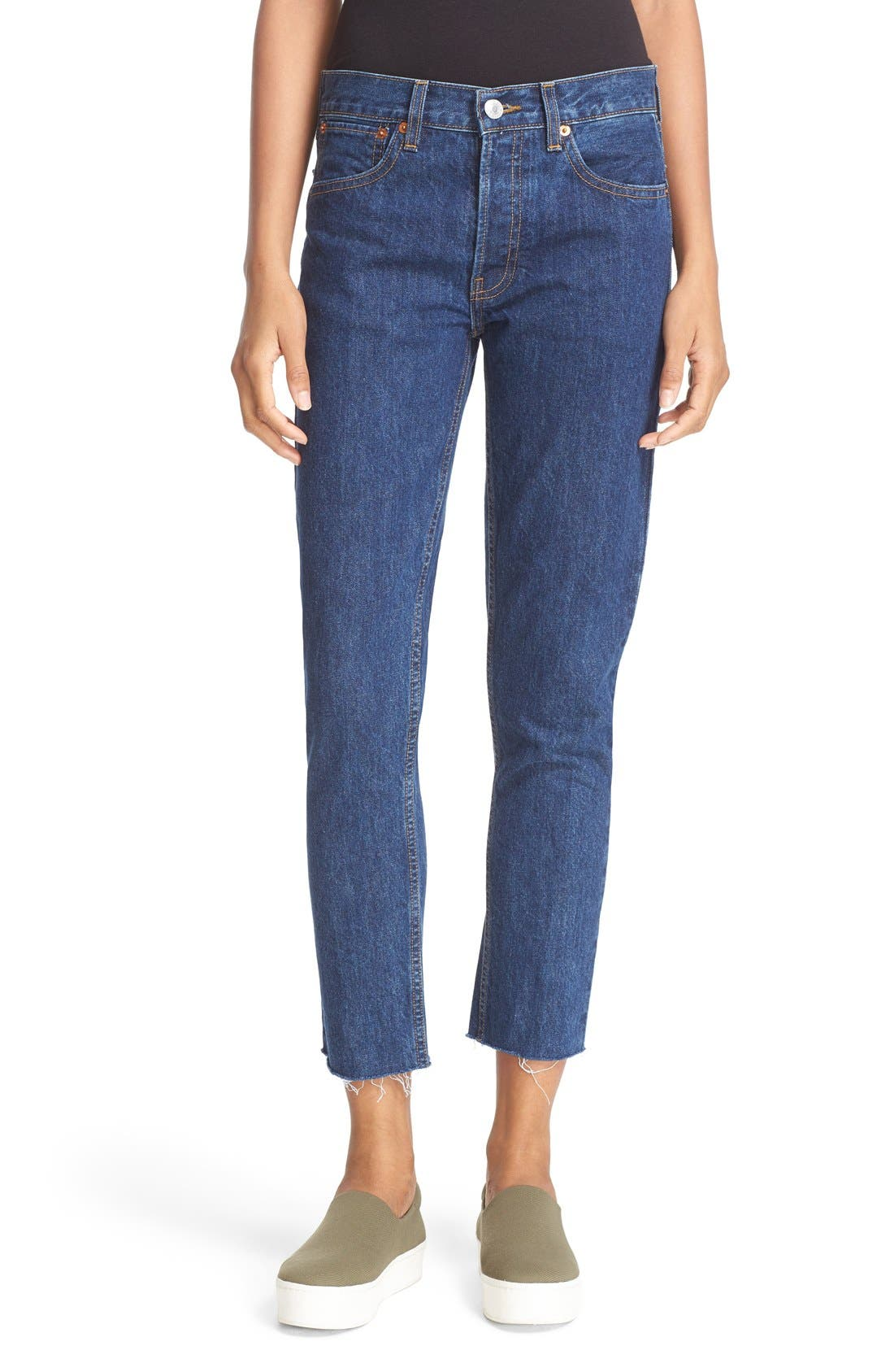 Alternate Image 1 Selected - Re/Done Originals High Waist Crop Jeans