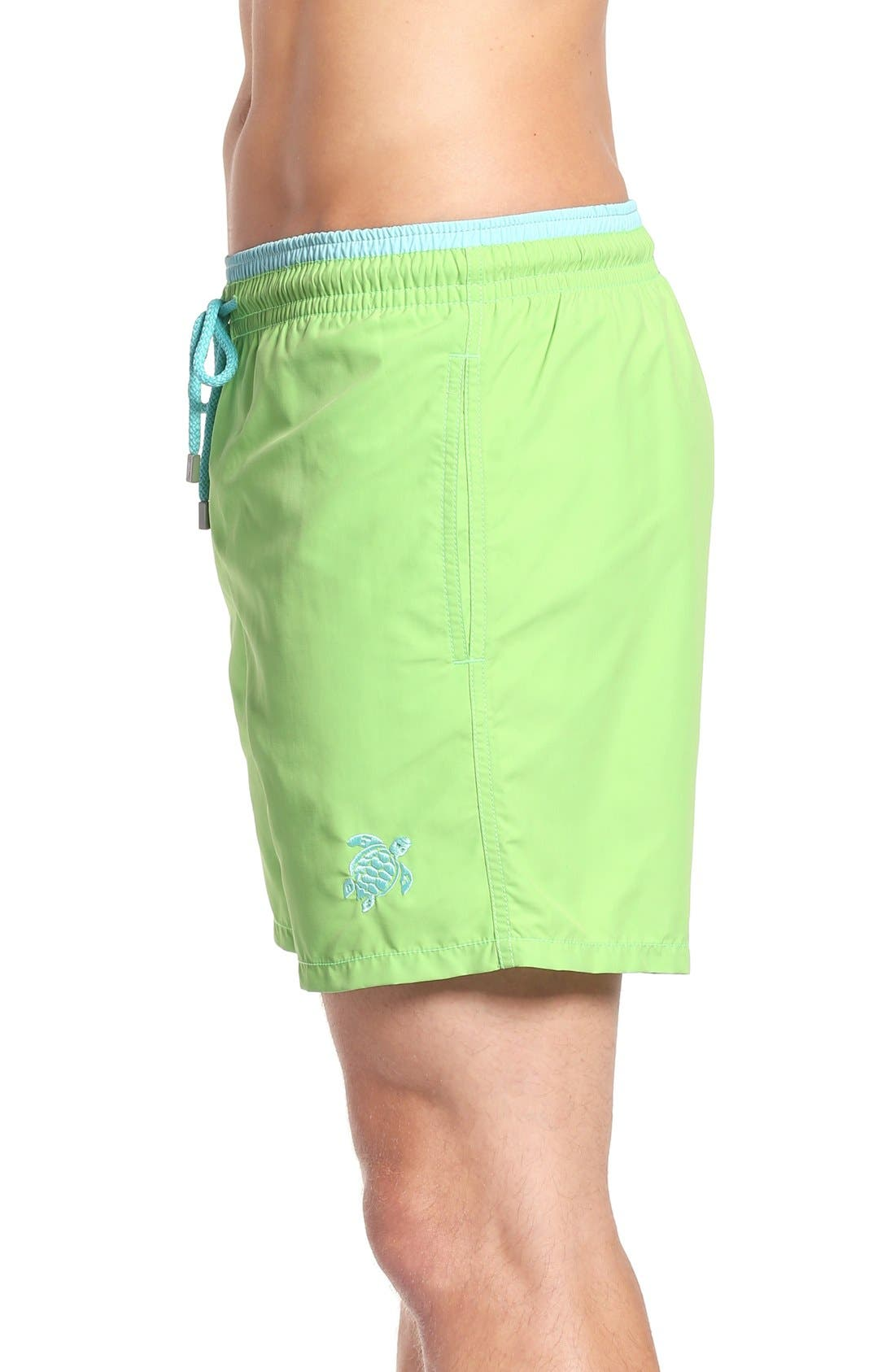 Swim Trunks,                             Alternate thumbnail 3, color,                             Wasabi