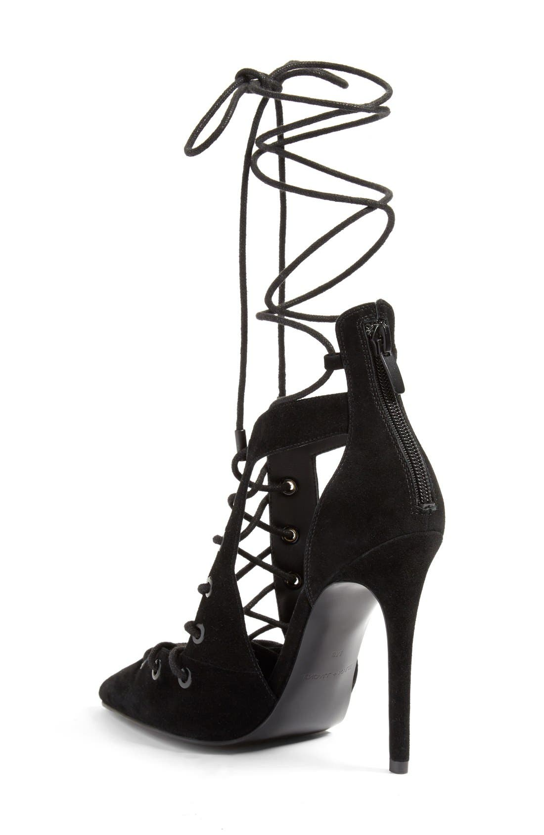 Alternate Image 2  - KENDALL + KYLIE 'Angel' Lace-Up Pump (Women)