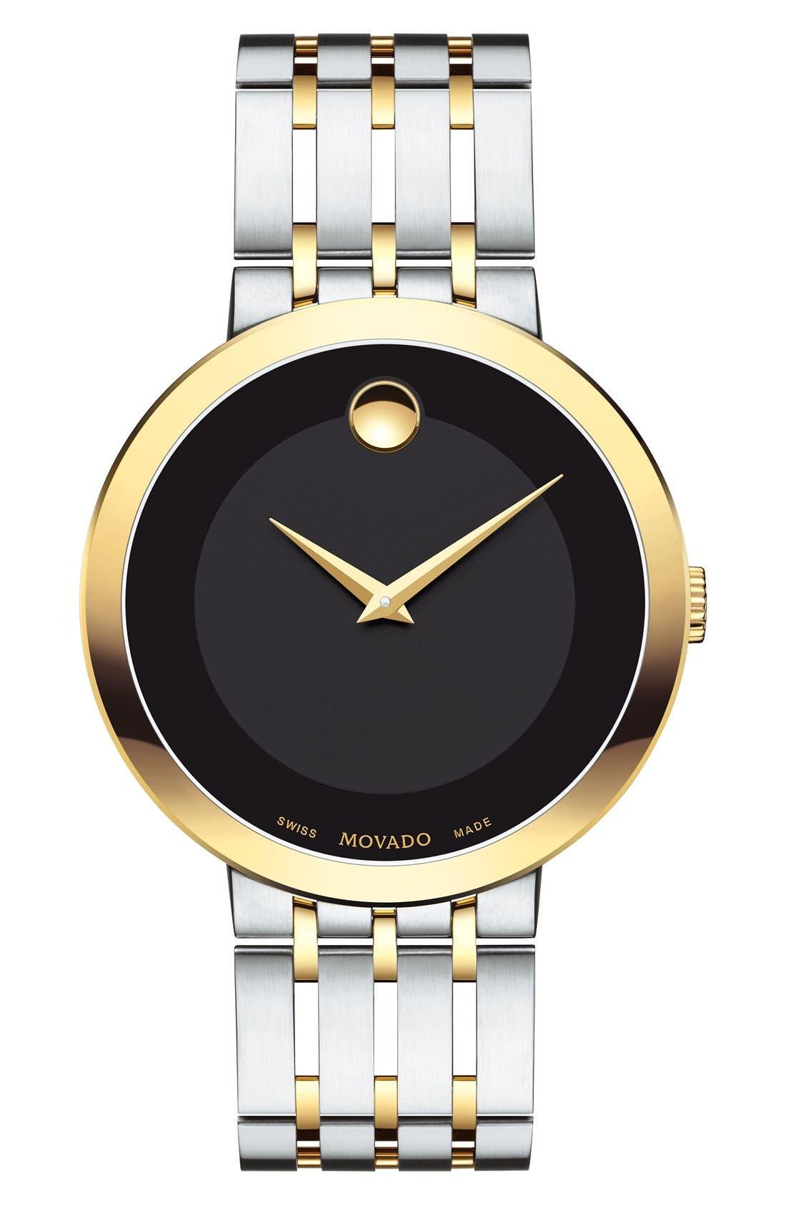 'Esperanza' Bracelet Watch, 39mm,                         Main,                         color, Silver/ Black/ Gold