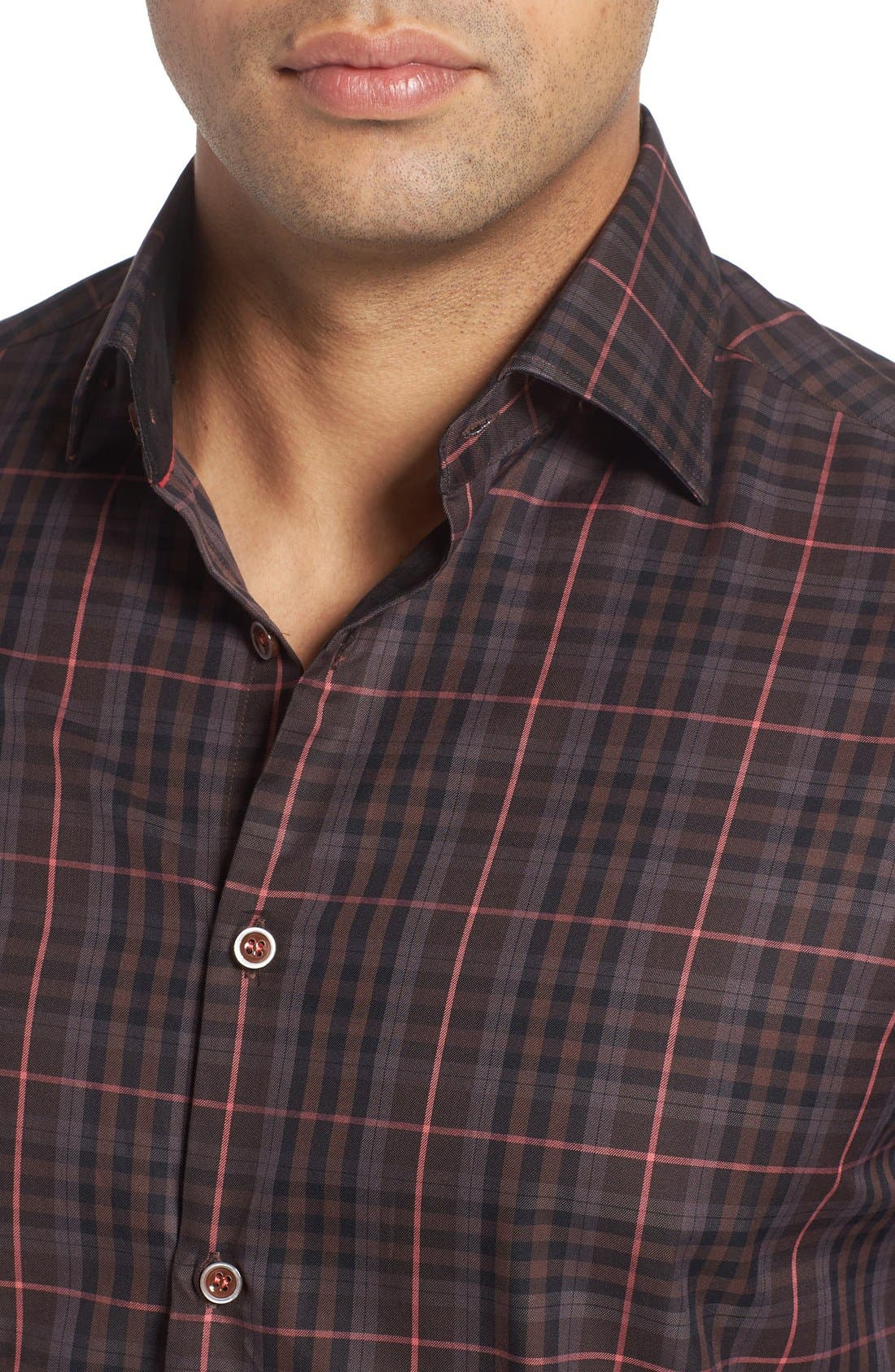 Alternate Image 4  - Stone Rose Plaid Sport Shirt