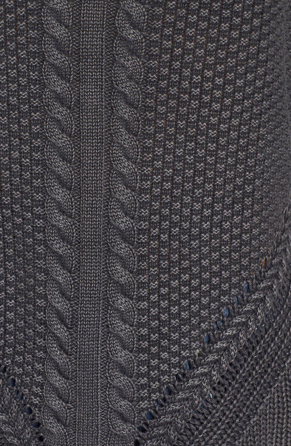 Alternate Image 5  - BP. V-Neck Cable Knit Pullover