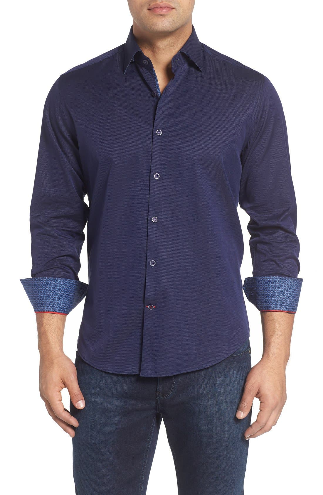 Main Image - Stone Rose Textured Sport Shirt