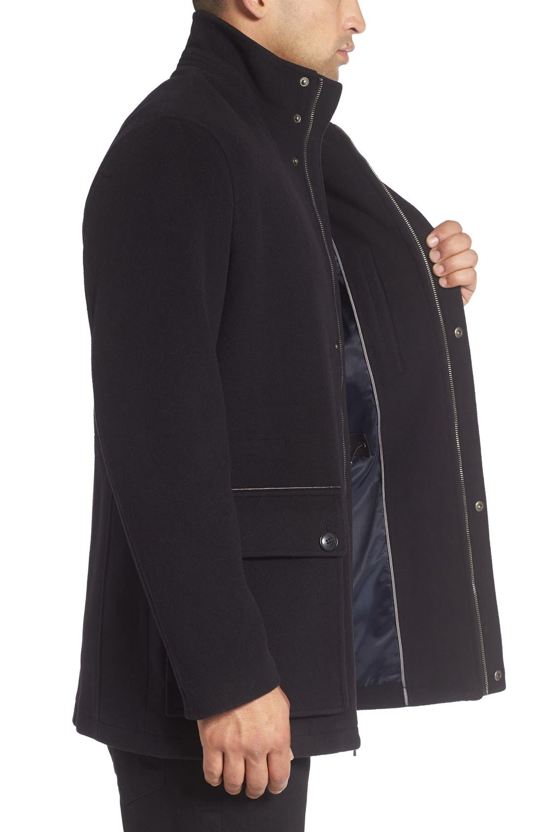 Alternate Image 3  - Cole Haan Wool Blend Car Coat