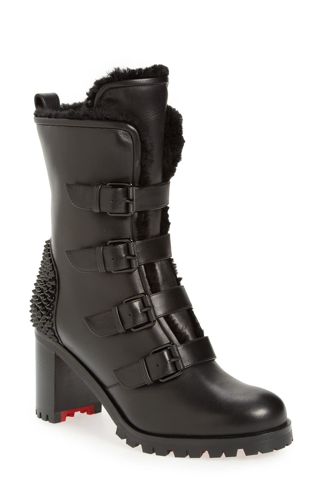 Christian Louboutin 'Glorymount' Studded Buckle Boot