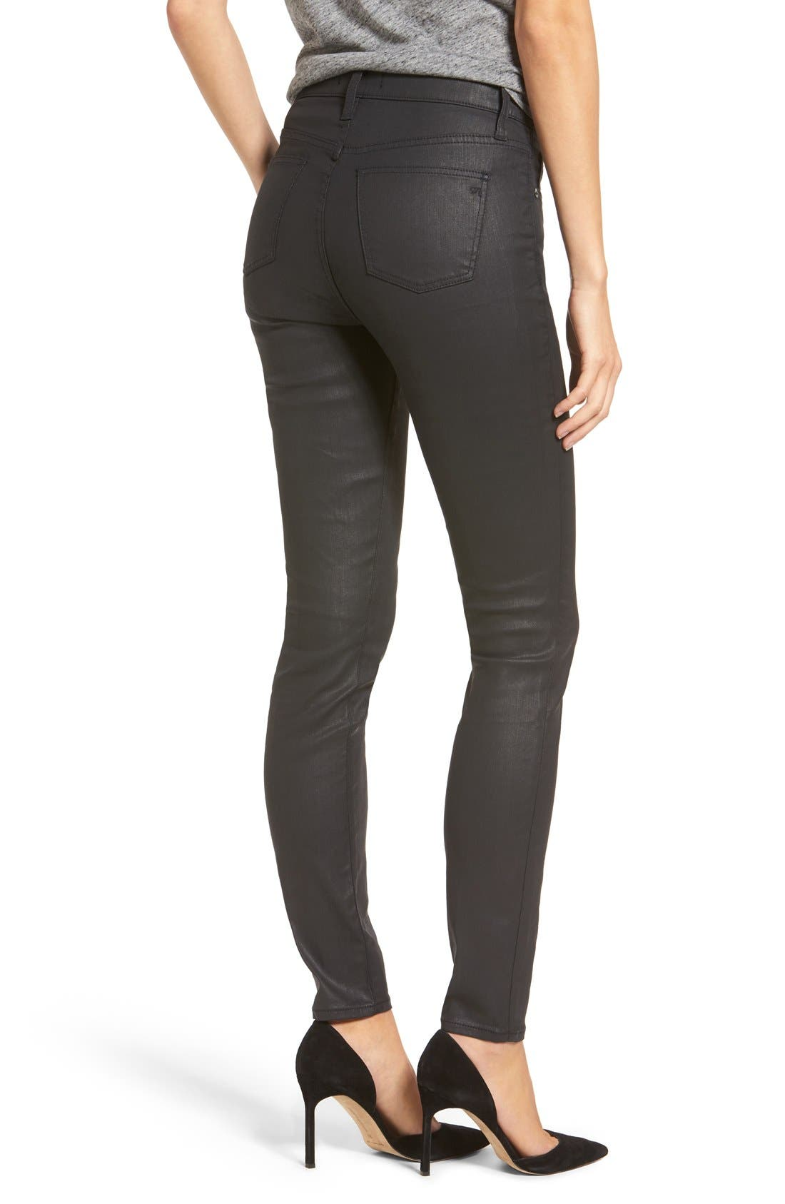 Alternate Image 2  - Madewell 'High Riser' Coated Skinny Jeans