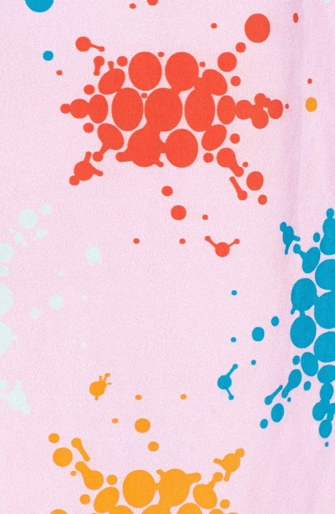 Japan Turtles Print Swim Trunks,                             Alternate thumbnail 5, color,                             Pink Quartz