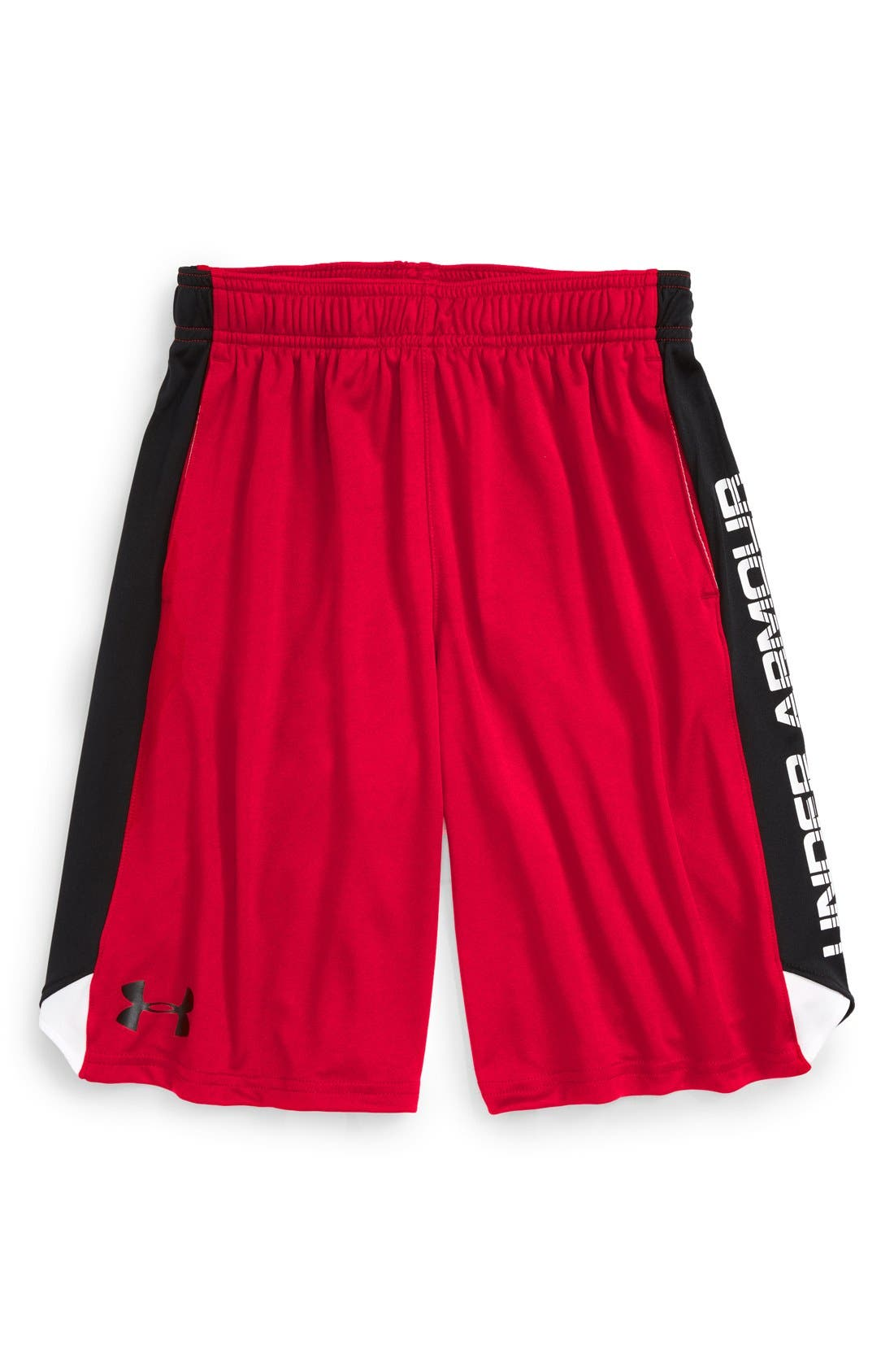 'Eliminator' HeatGear<sup>®</sup> Shorts,                             Main thumbnail 1, color,                             Red/ Black/ Black