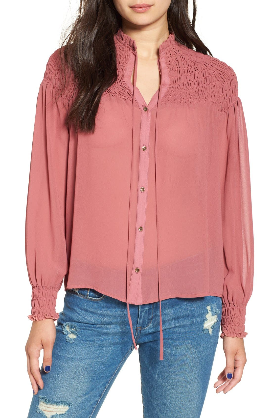Alternate Image 1 Selected - WAYF 'Russell' Chiffon Blouse