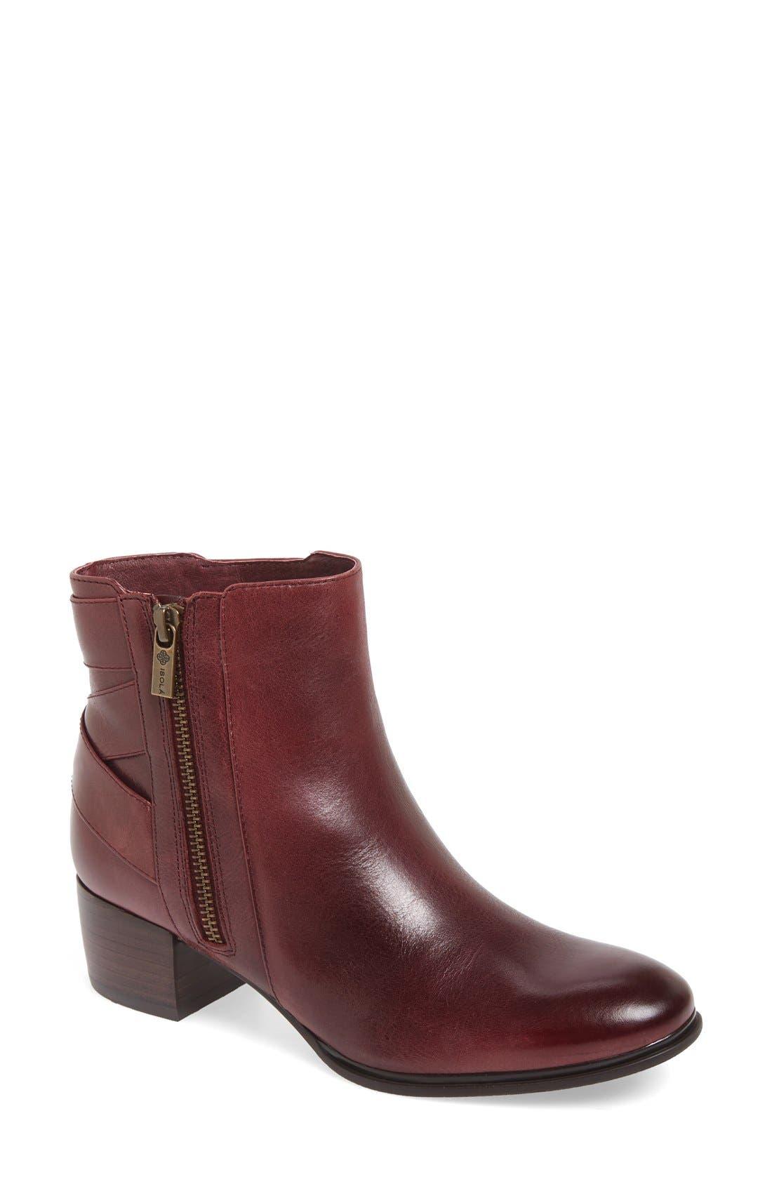 'Delta' Bootie,                             Main thumbnail 1, color,                             Burgundy Leather
