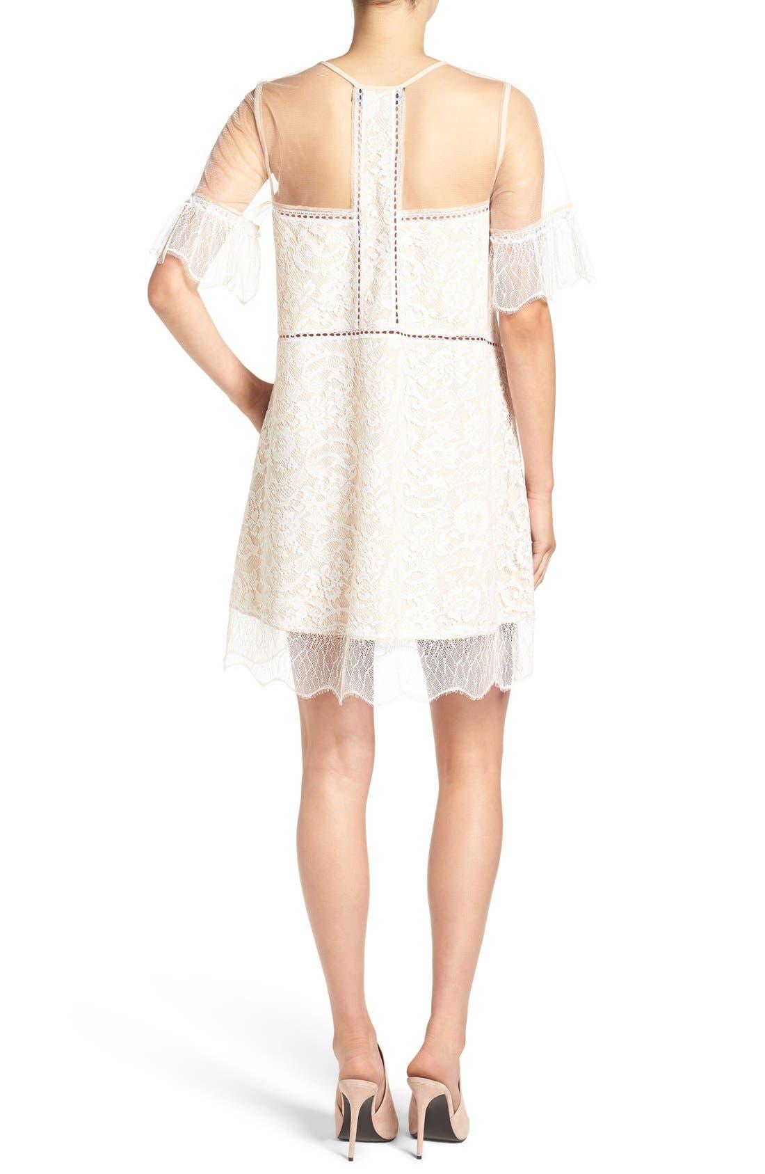 Alternate Image 2  - KENDALL + KYLIE Lace Panel Trapeze Dress