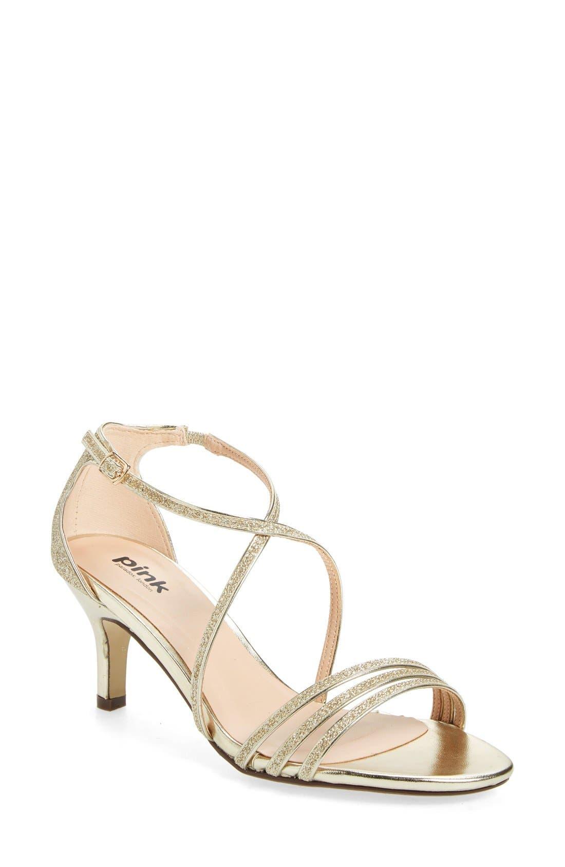 'Isla' Glitter Sandal,                         Main,                         color, Gold