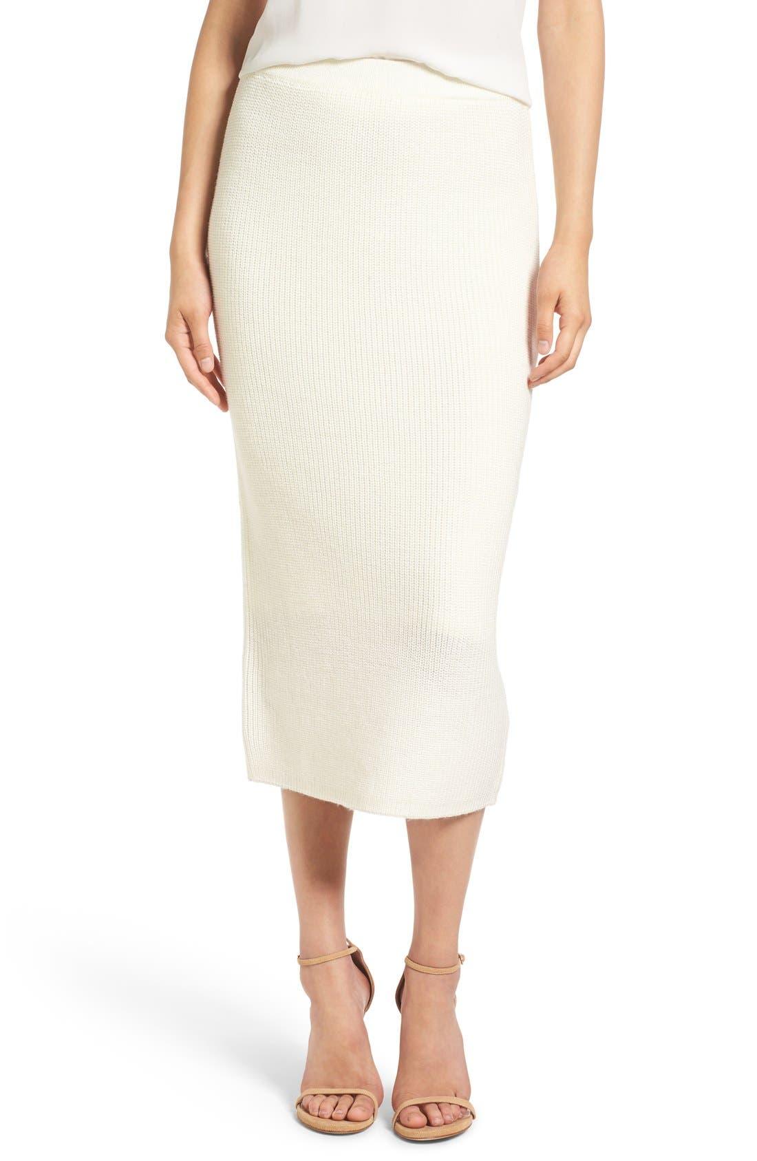 by Lauren Conrad 'Copenhagen' Knit Tube Skirt,                         Main,                         color, Winter White