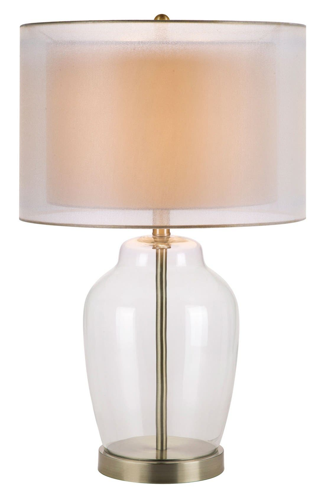 Main Image - JAlexander Clear Glass Table Lamp