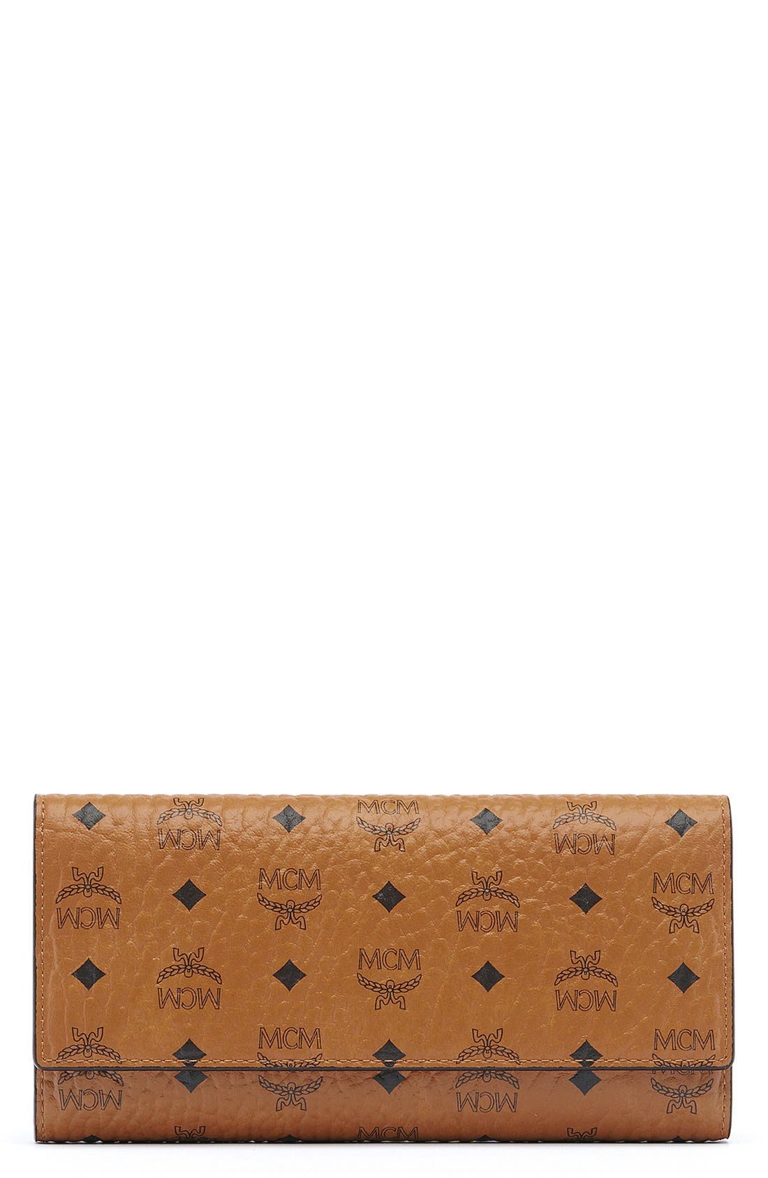 MCM Visetos Coated Canvas Continental Wallet