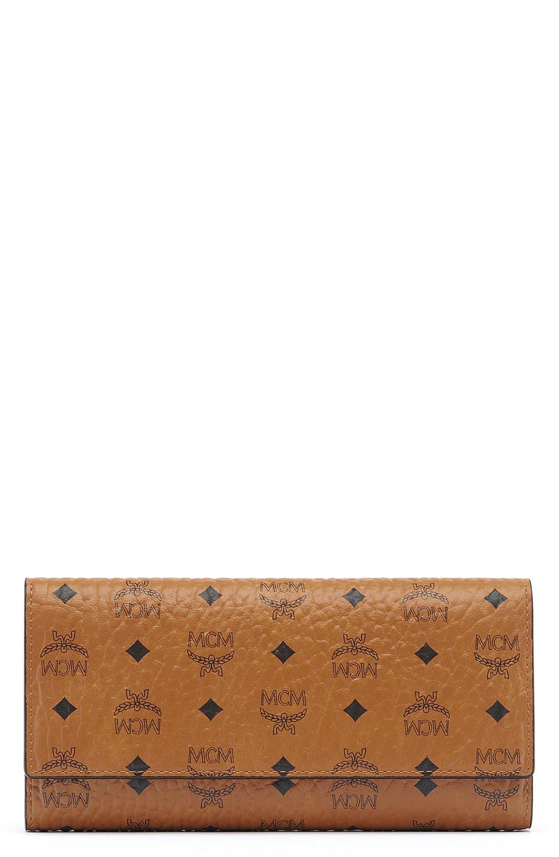 Main Image - MCM Visetos Coated Canvas Continental Wallet