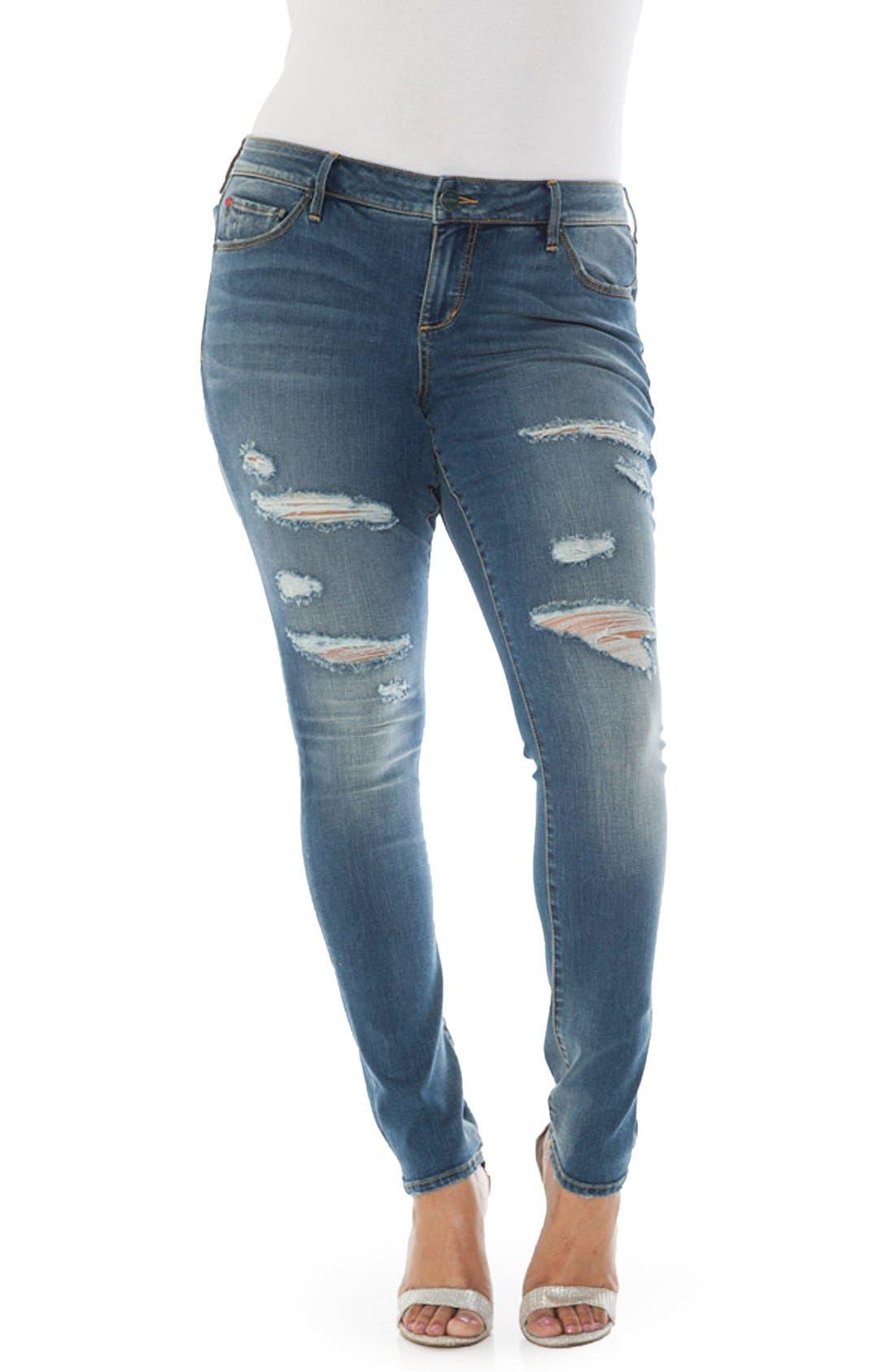 SLINK JEANS Ripped Stretch Skinny Jeans