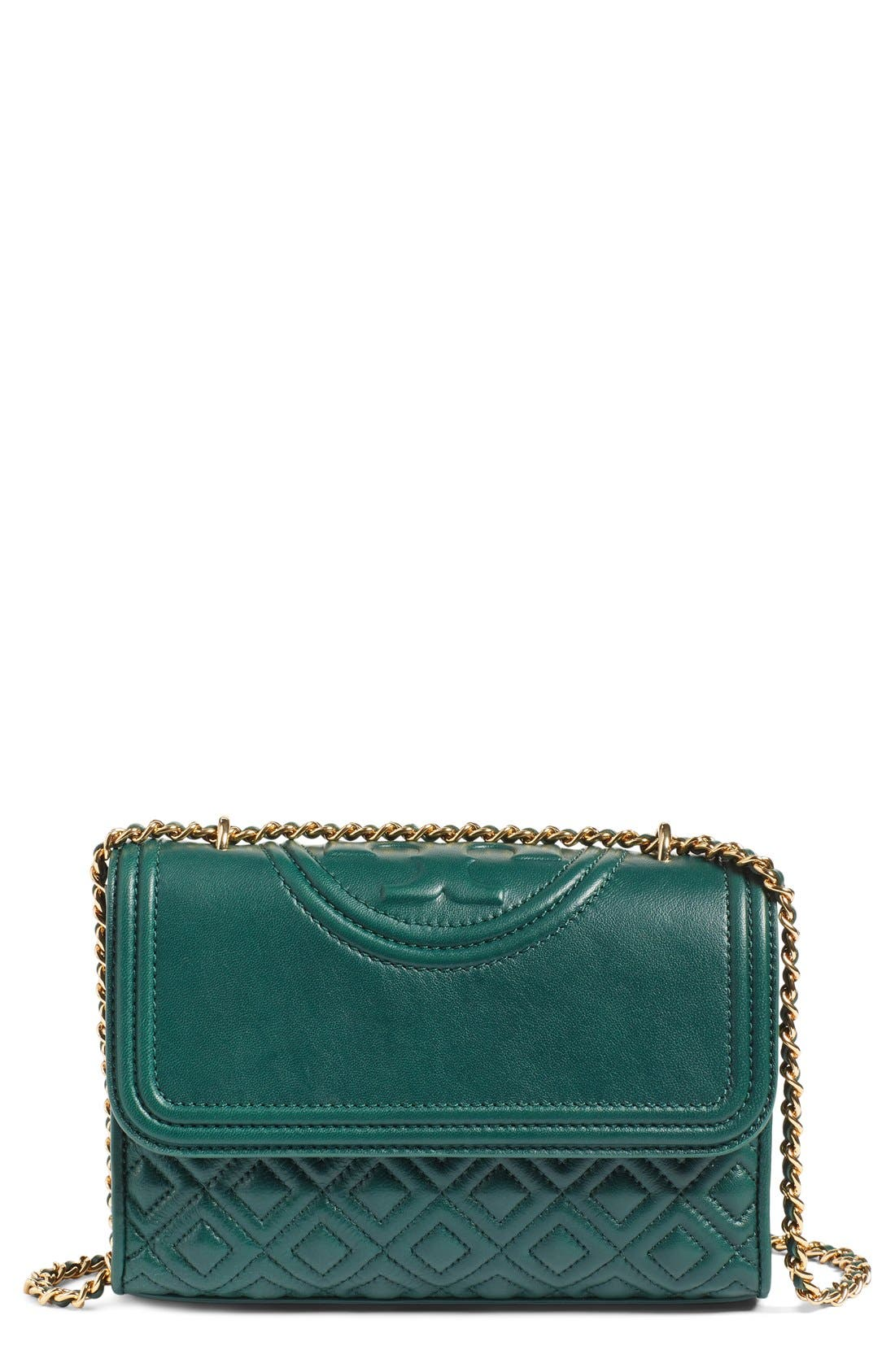 Alternate Image 1 Selected - Tory Burch 'Small Fleming' Quilted Leather Shoulder Bag