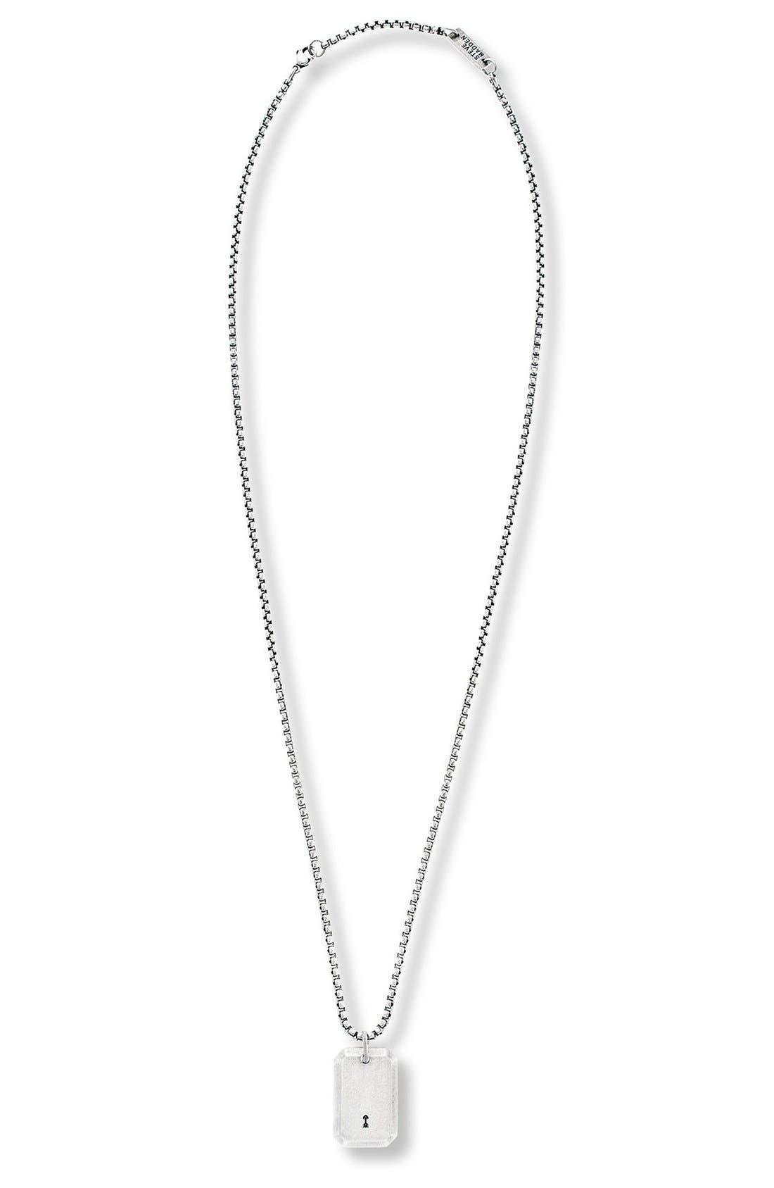 Steve Madden Keyhole Pendant Necklace