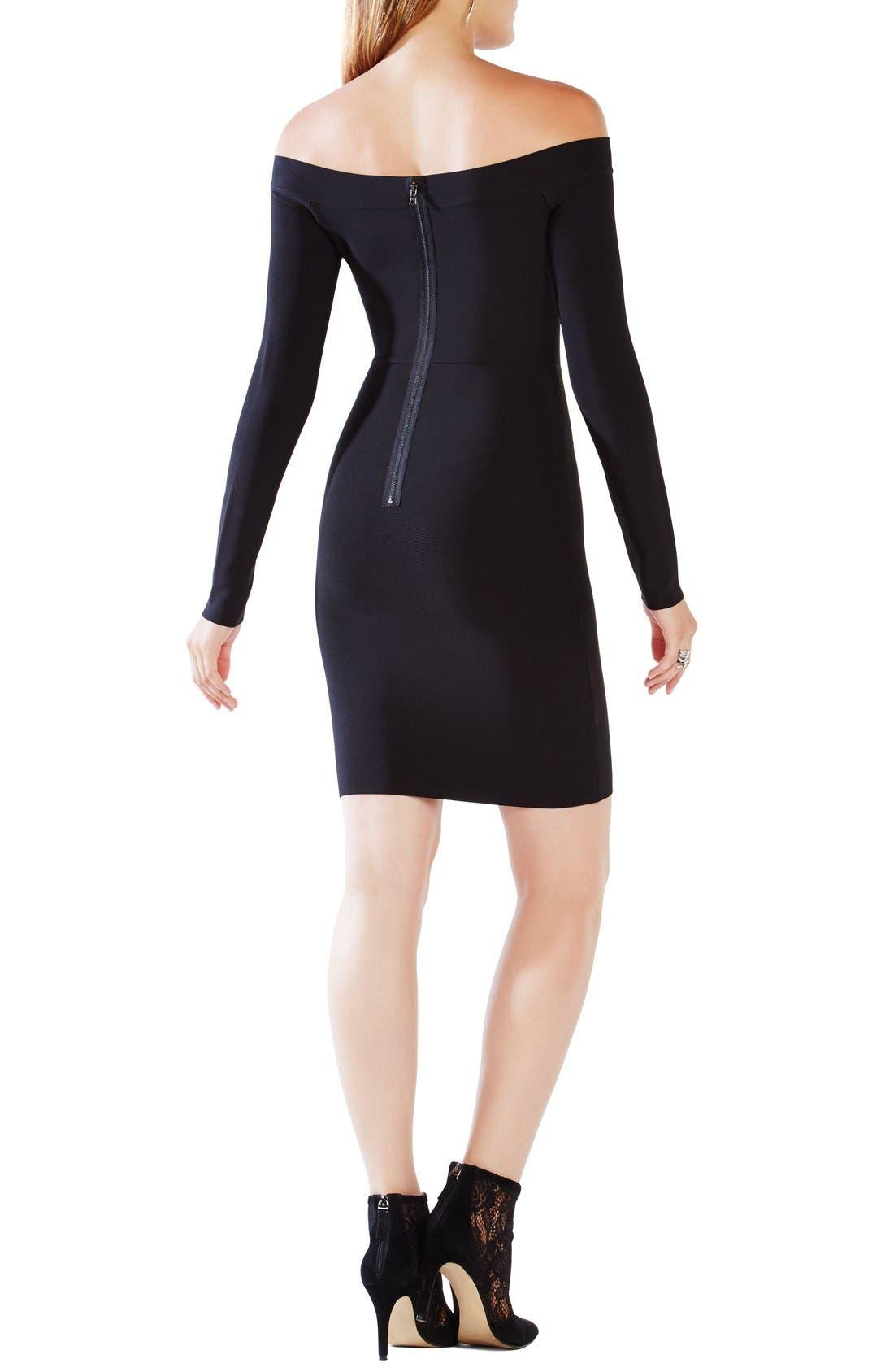 Alternate Image 2  - BCBGMAXAZRIA 'Annabeth' Off the Shoulder Body-Con Dress