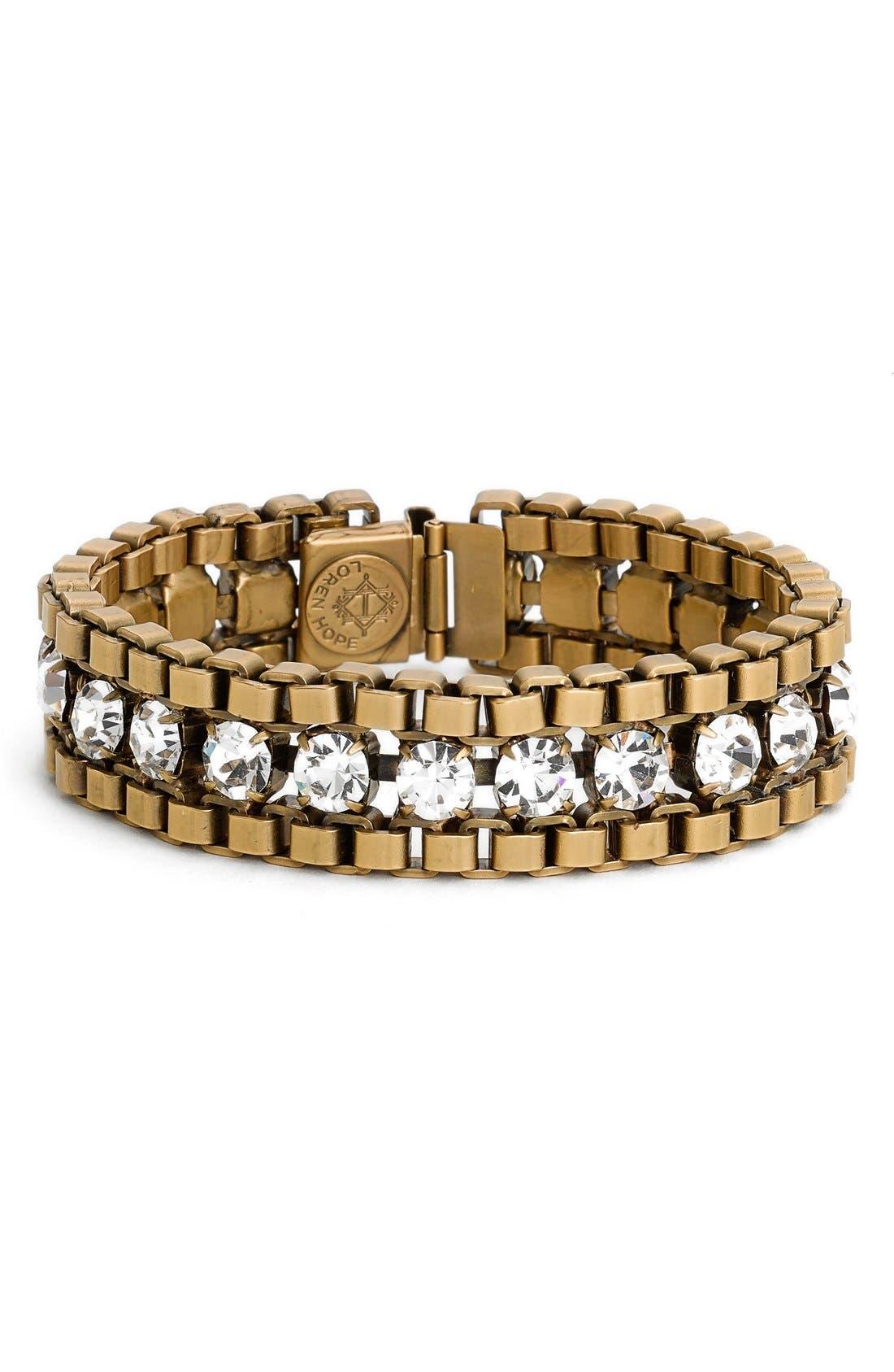 Loren Hope 'Carly' Crystal & Chain Bracelet