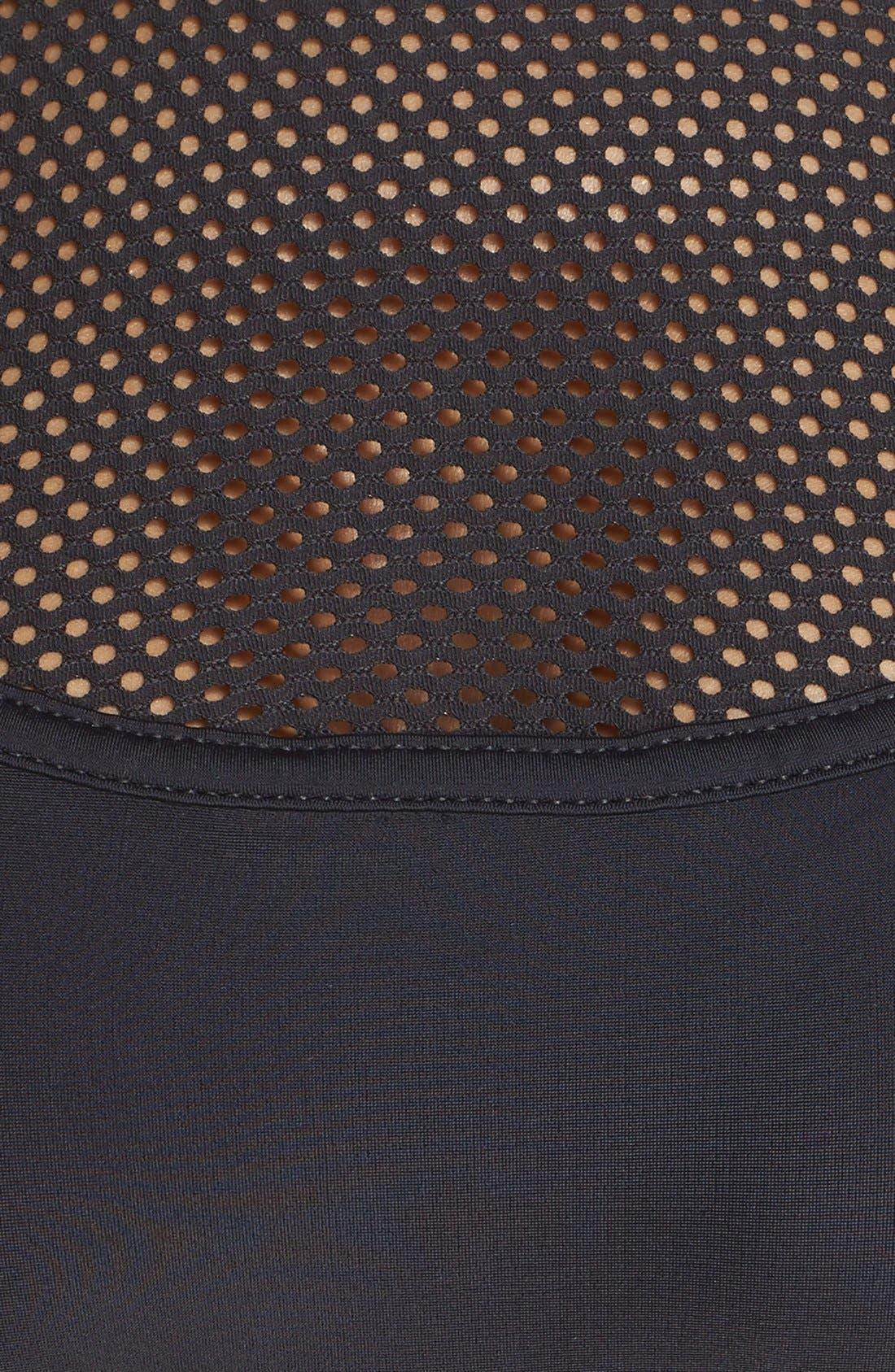 Mesh Inset Bikini Top,                             Alternate thumbnail 5, color,                             Black