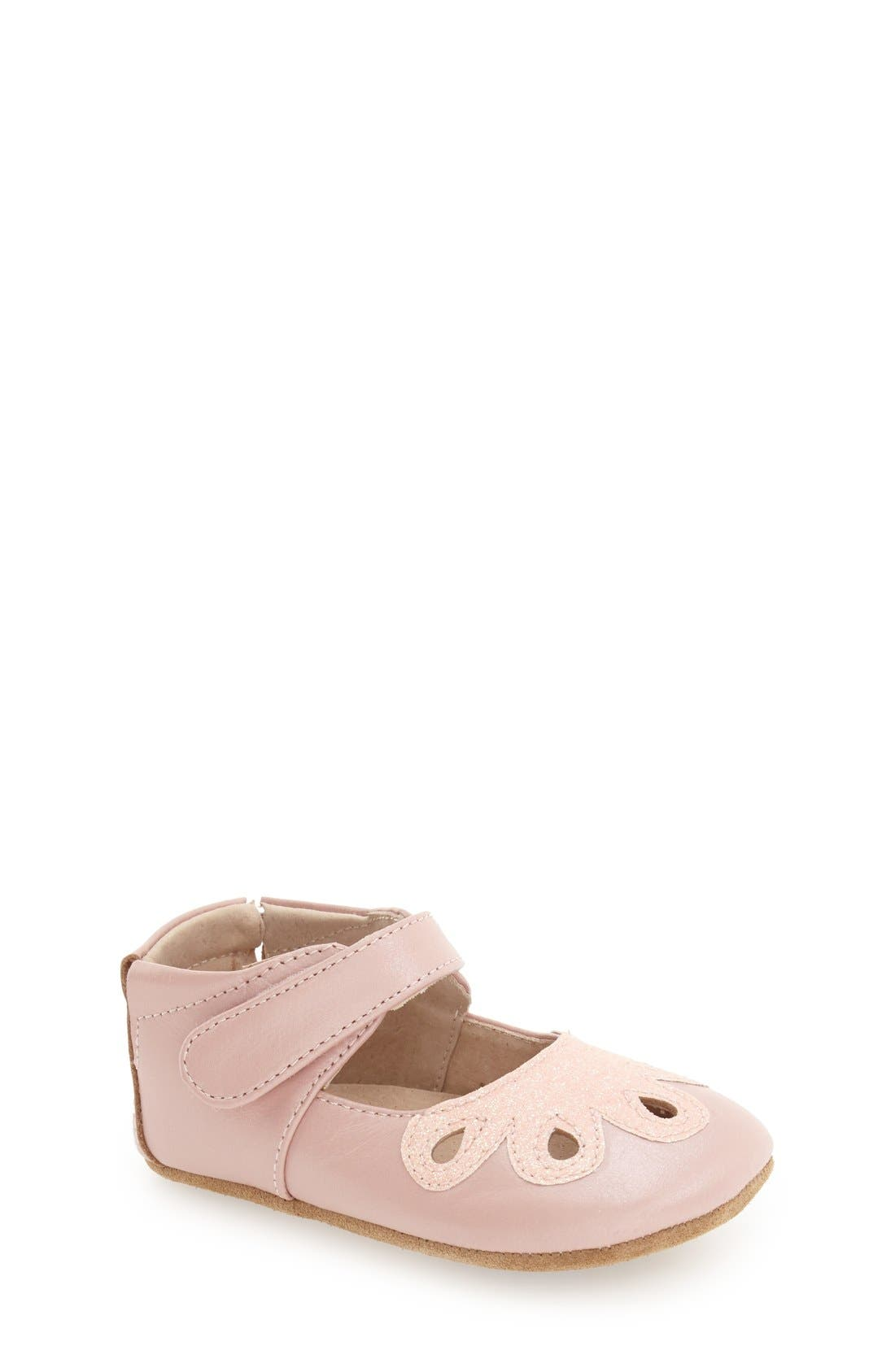 Livie & Luca 'Petal' Mary Jane Crib Shoe (Baby & Walker)